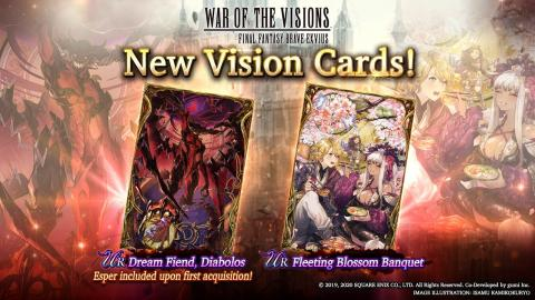 New Vision Cards: Diabolos & Fleeting Blossom Banquet