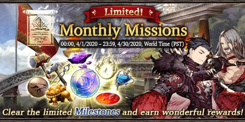 2020 April Login Bonus & Monthly Missions (Global)