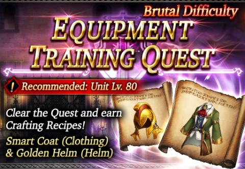 Brutal Difficulty Equipment Training Quest: Smart Coat & Golden Helm