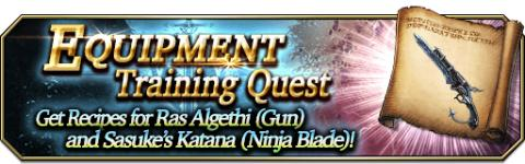 Equipment Training Quest: Ras Algethi & Sasuke's Katana
